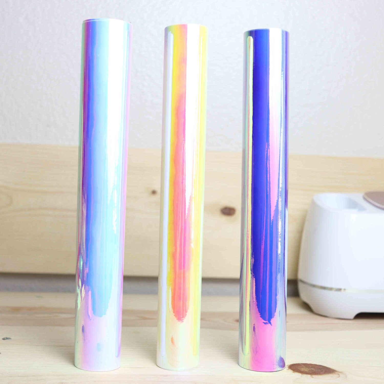 Holographic adhesive vinyl rolls