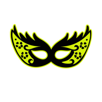 Mask Free SVG Template for photo booth prop