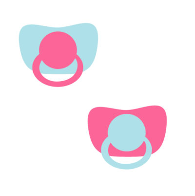 Baby pacifiers Free SVG Template for photo booth props