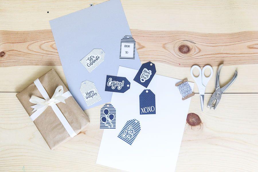 Assorted modern birthday gift tags free printable