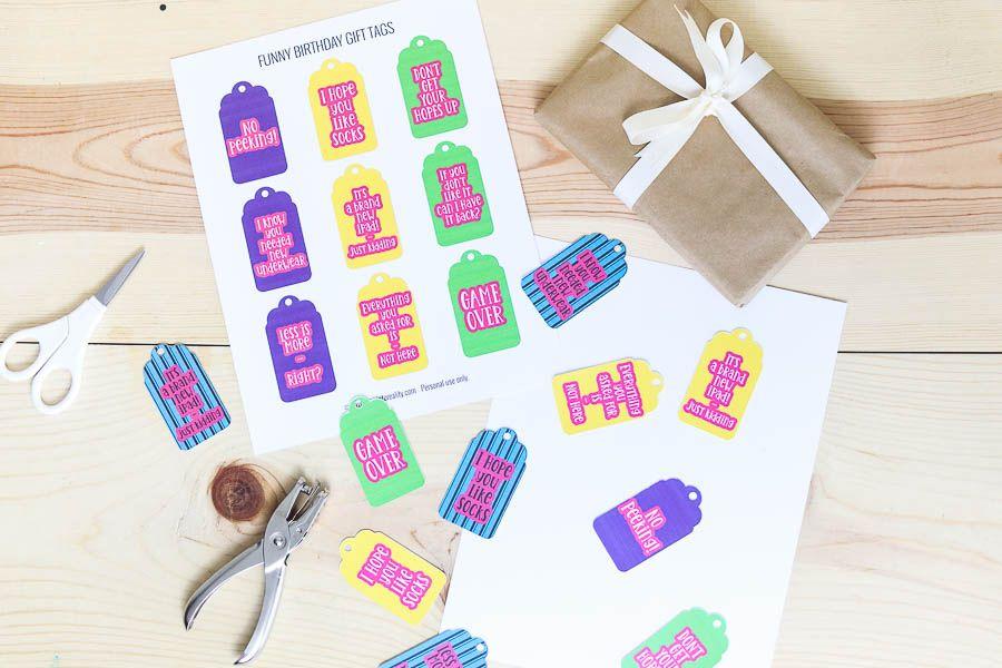 Assorted birthday gift tags free printable