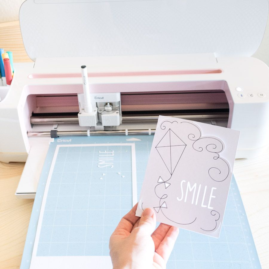 Cricut Maker first project cutting paper