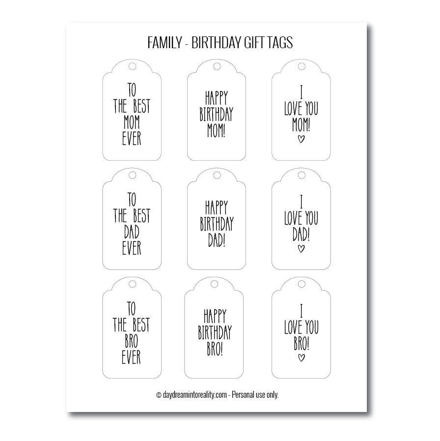 Family birthday gift tags free printables version 2