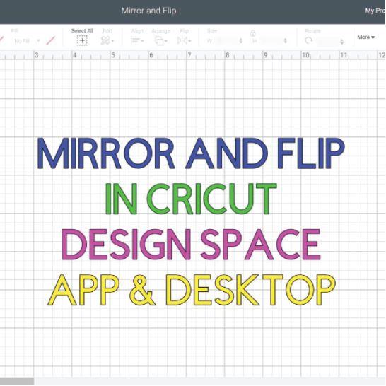 Featured Image Mirror Flip in Cricut Design Space Square