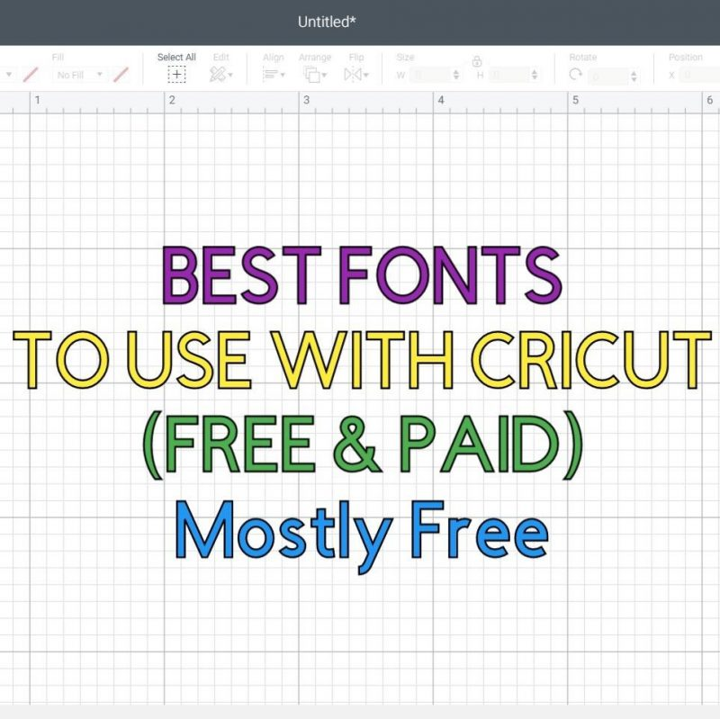 featured image best free fonts for Cricut square