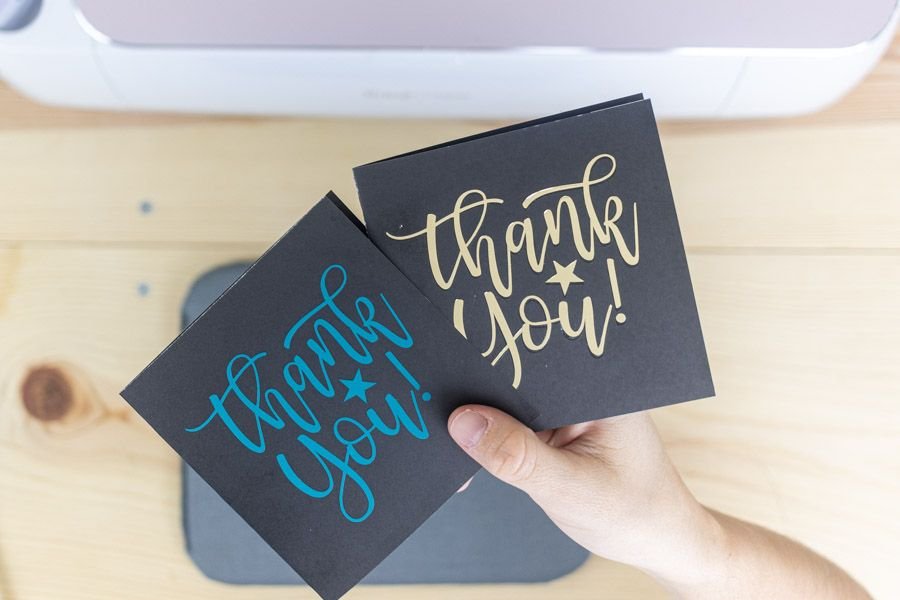 Thank you notes made with Foil and Everyday Iron-On