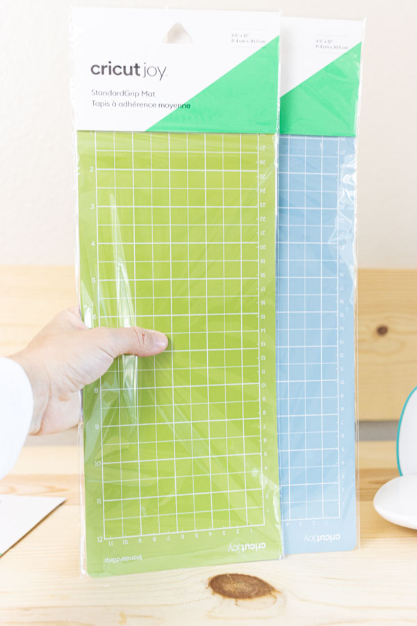4.5x12 in lightgrip (blue) and standard grip mat for Cricut Joy