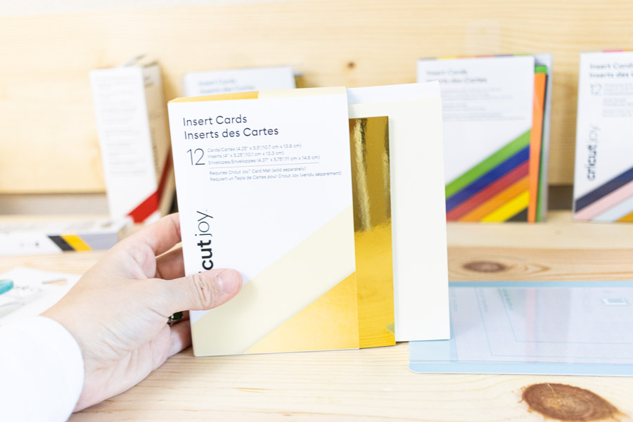 Insert Cards for Cricut Joy - foil gold and cream set