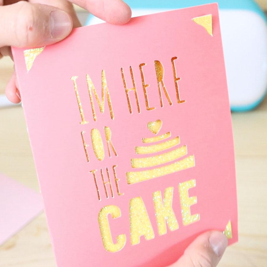 I am here for the Cake Cricut Joy