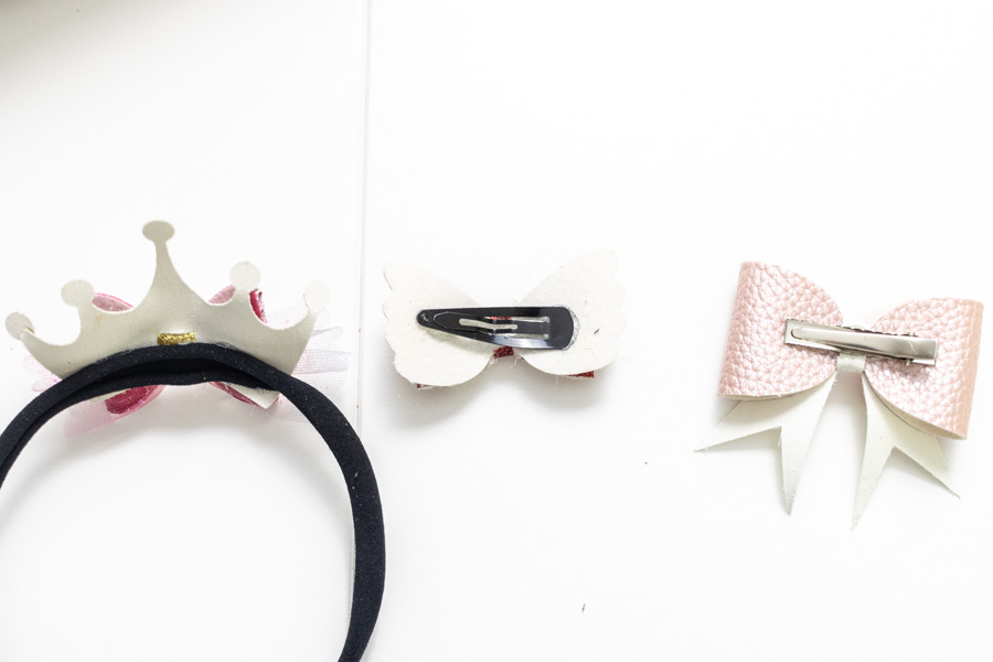 use hairbands, hair clips, and other to use on hair bows.