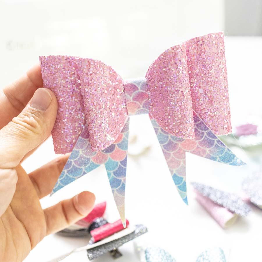 hair bow made with cricut