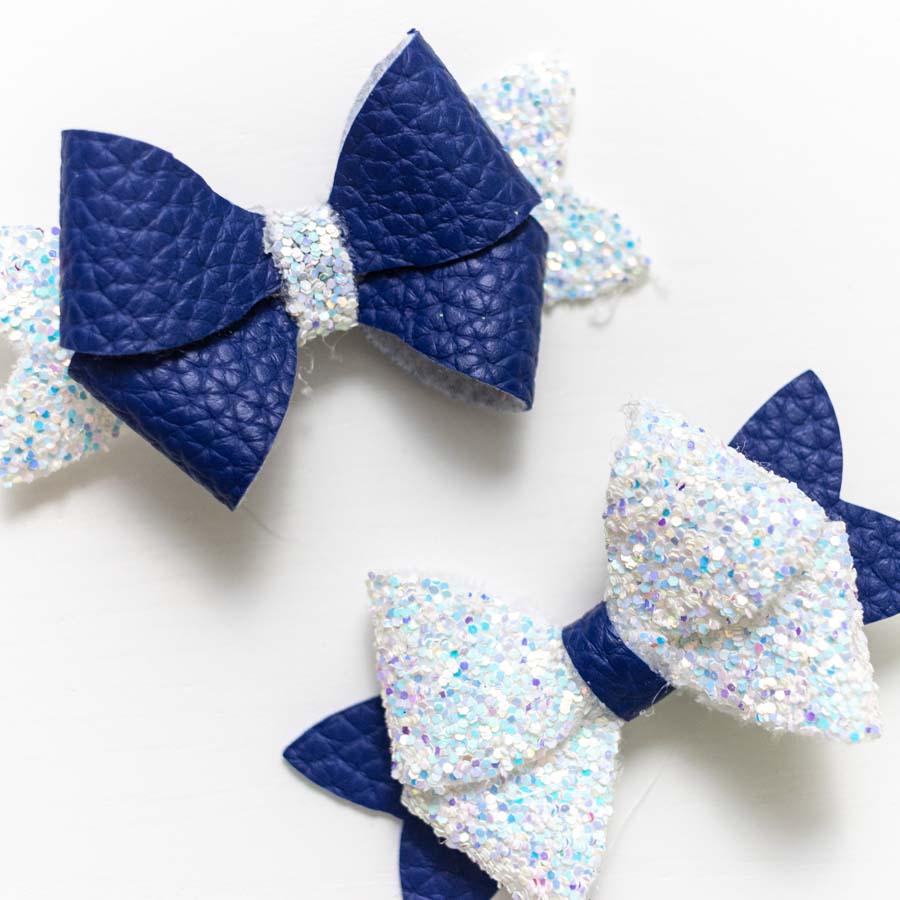 navy blue bow made with cricut