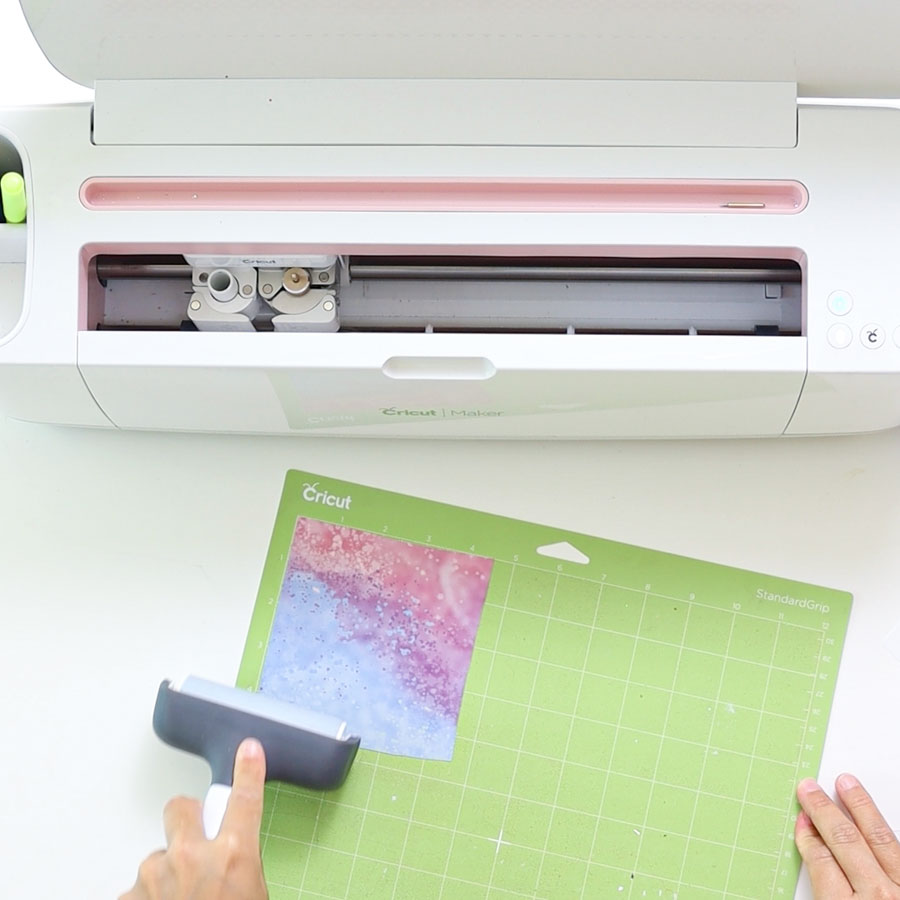 placing infusible ink transfer sheet on cricut mat