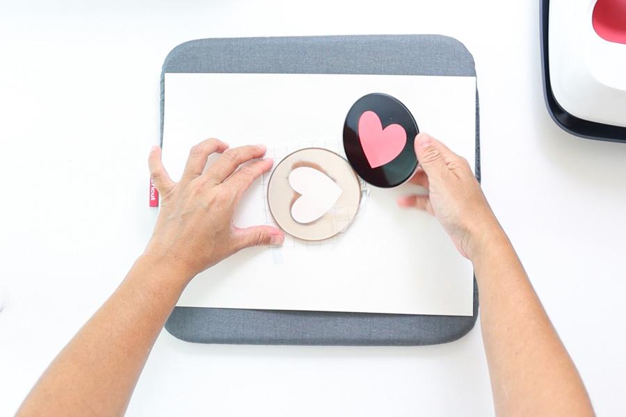 removing transfer sheet from ceramic coaster