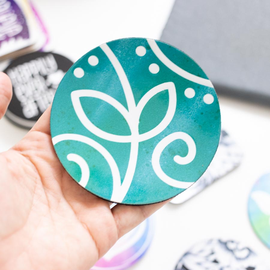 infusible ink coaster made with off brand coaster