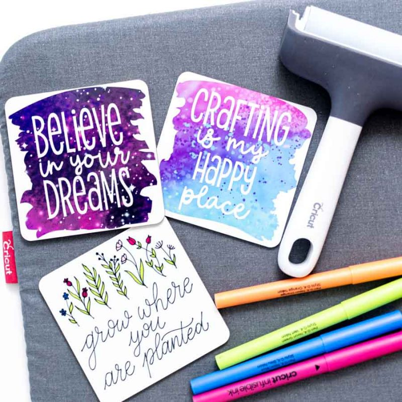 Make Coasters with Cricut Infusible Ink – Free SVG Templates