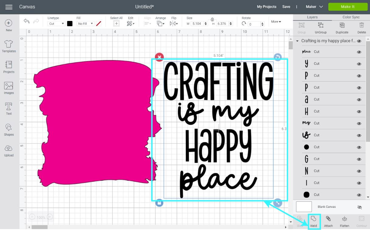 organizing files in cricut design space