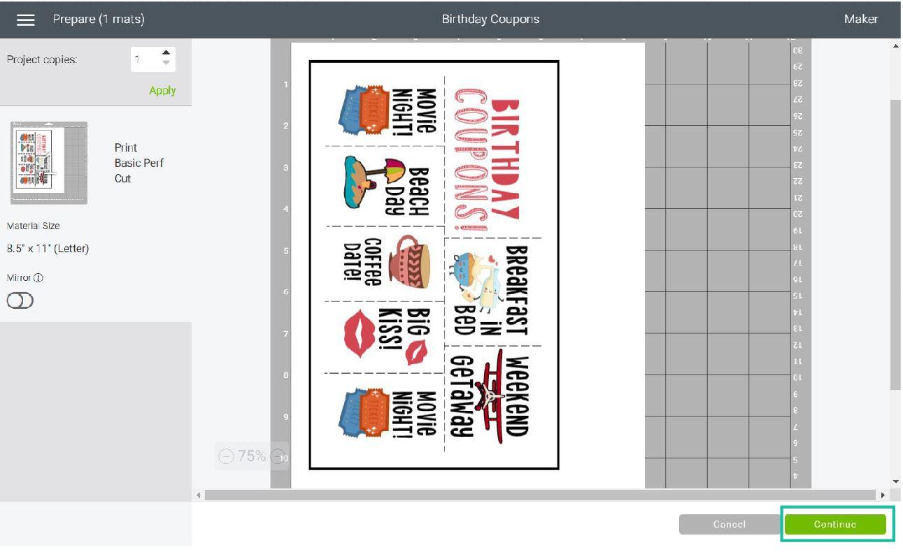 mat preview print then cut