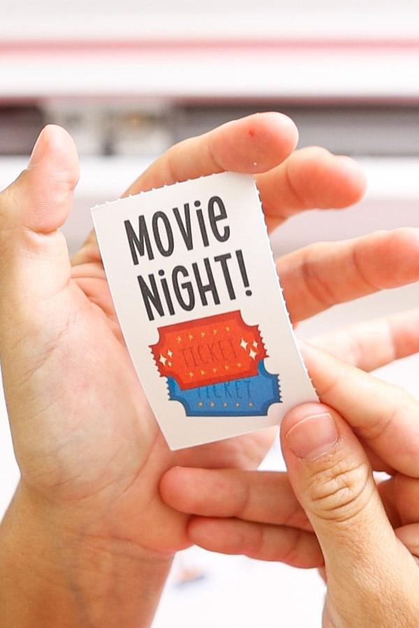 Movie night birthday coupon