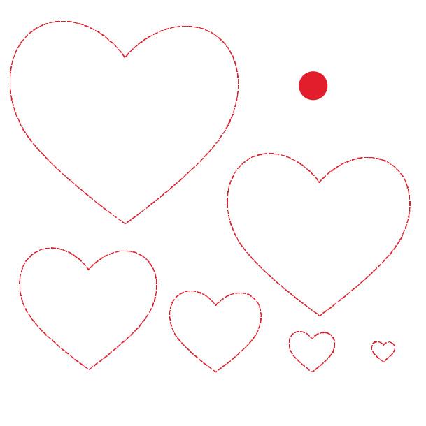 Cricut Perforation Line Alternative FREE SVG Heart