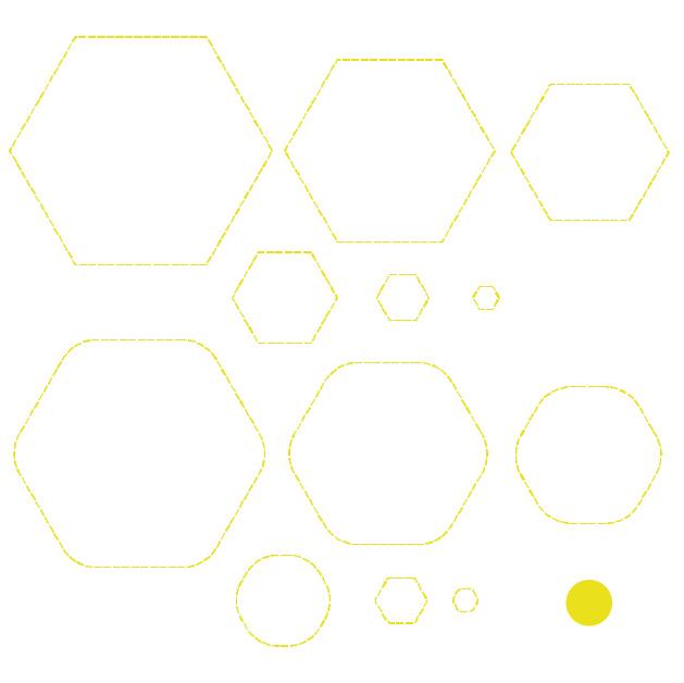 Cricut Perforation Line Alternative FREE SVG Hexagon