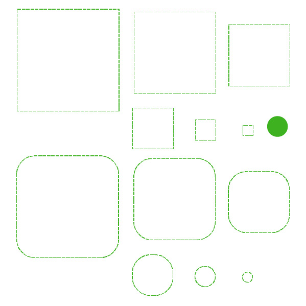 Cricut Perforation Line Alternative FREE SVG Square