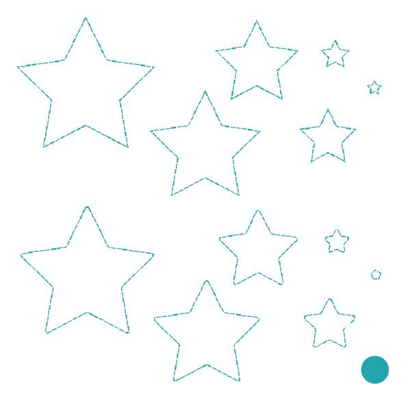 Cricut Perforation Line Alternative FREE SVG star