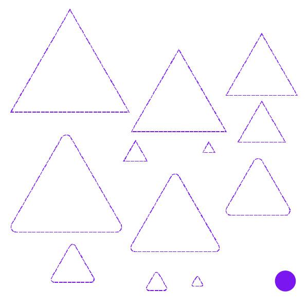 Cricut Perforation Line Alternative FREE SVG triangle