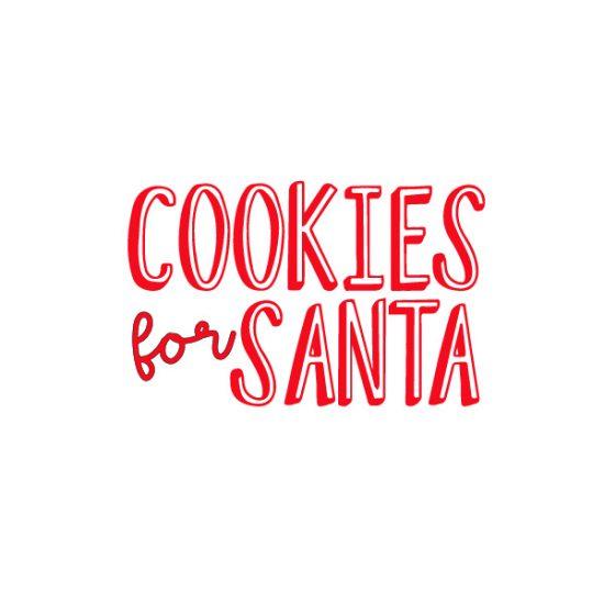 Cookies for Santa Free SVG