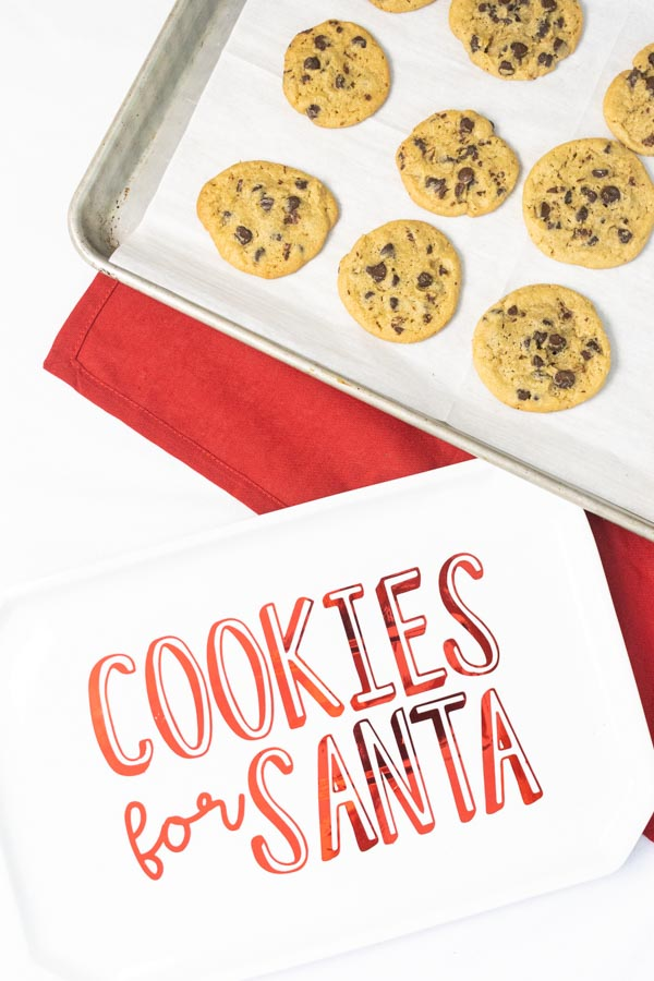 Cookies for Santa tray (made with the Cricut) and baked cookies