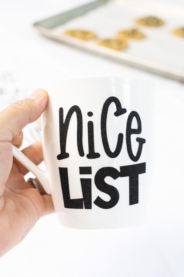 Nice list Christmas mug