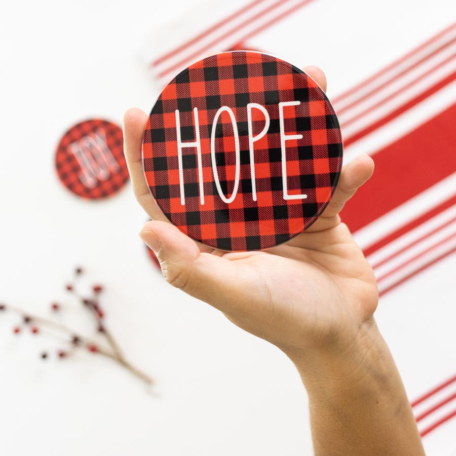 Hope Infusible Ink Coaster made with Cricut