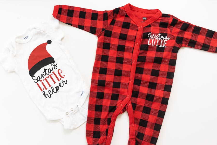 baby Christmas outfits personalized with cricut