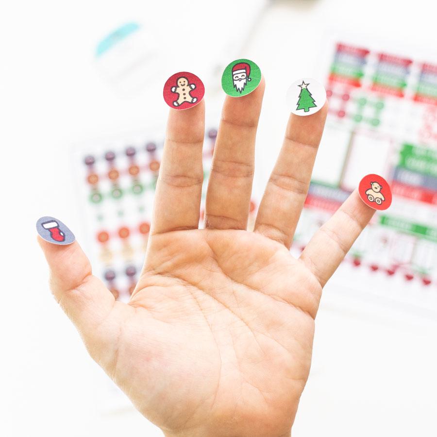 Christmas stickers circles