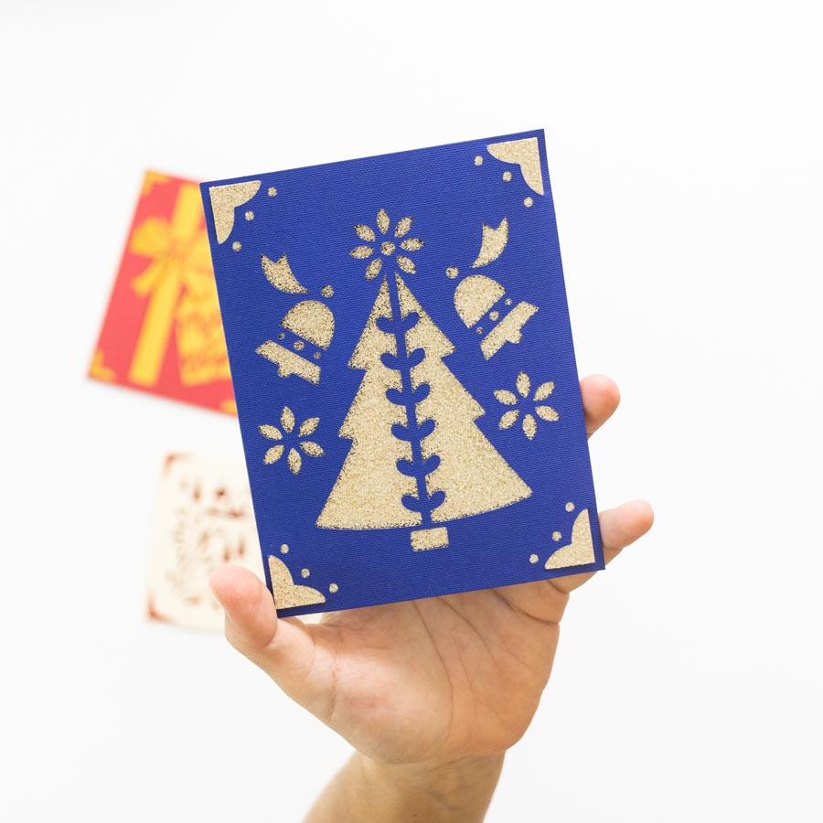 Christmas Card made with Cricut Joy option 2
