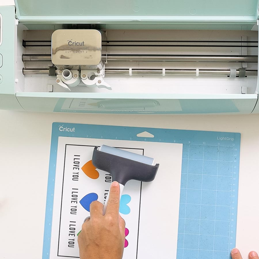 placing print then cut project on cricut mat