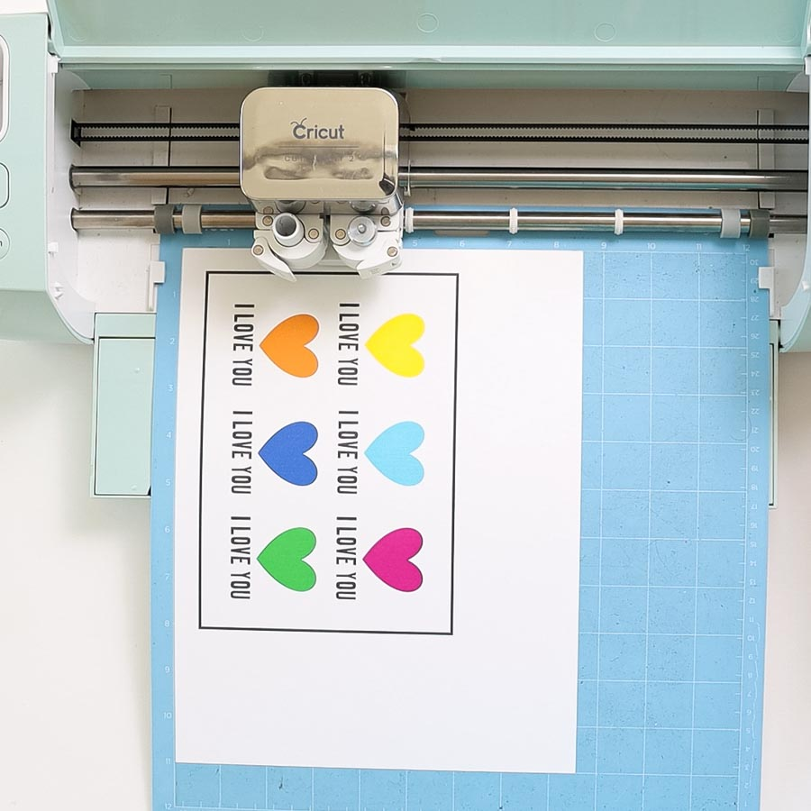 cricut explore cutting print then cut project with perforation lines