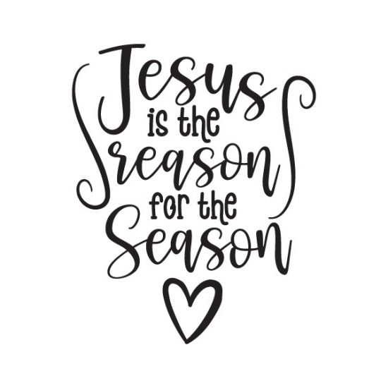 Jesus Is the reason for the season Free SVG