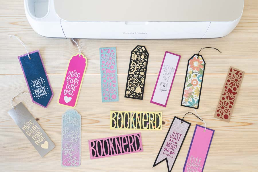 Multiple bookmarks made with Cricut