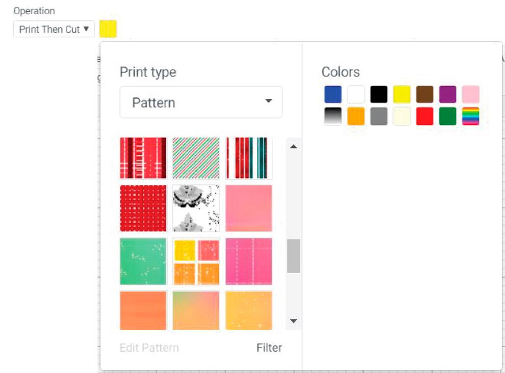 patterns in cricut design space