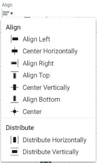 """align"" icons in cricut design space."