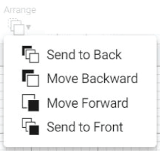 """arrange"" icon in cricut design space."