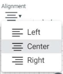 """Alignment"" icon in Cricut Design Space"