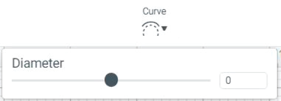 """Curve"" icon in Cricut Design Space"