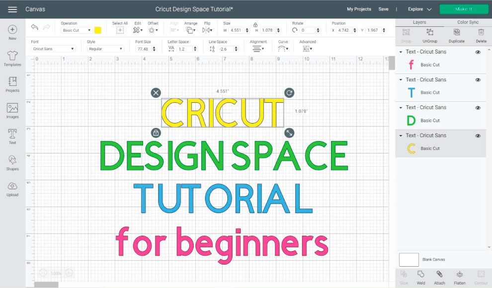 cricut design space tutorial for beginners featured images