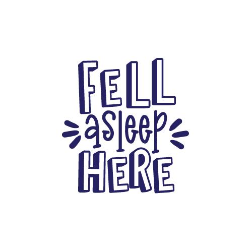 Fell asleep here free SVG