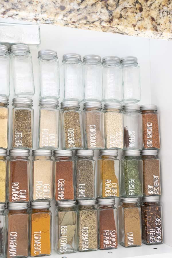 spice jar drawer after