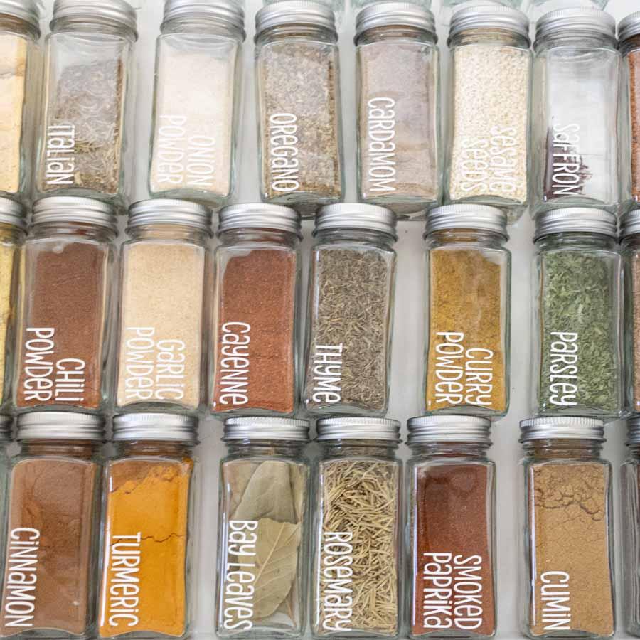 spice drawer jar
