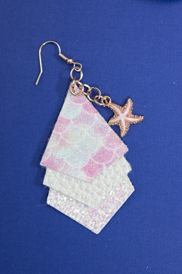 mermaid/princess earrings made with cricut