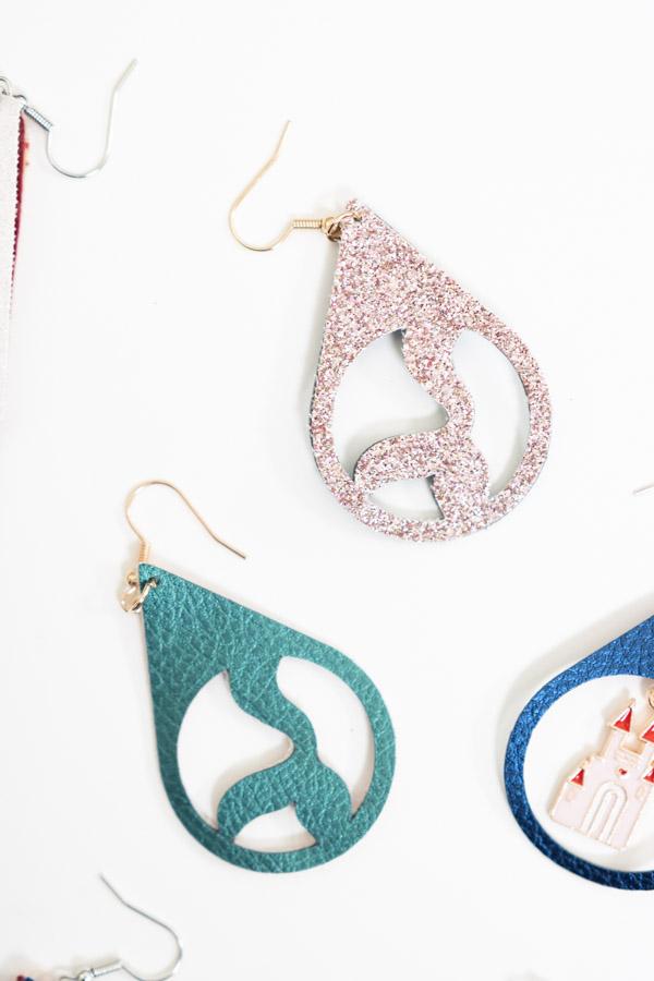 earrings made with cricut